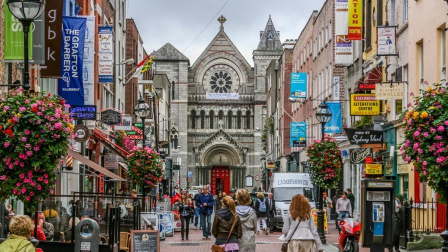 Изглед от Дъблин - градът на младите