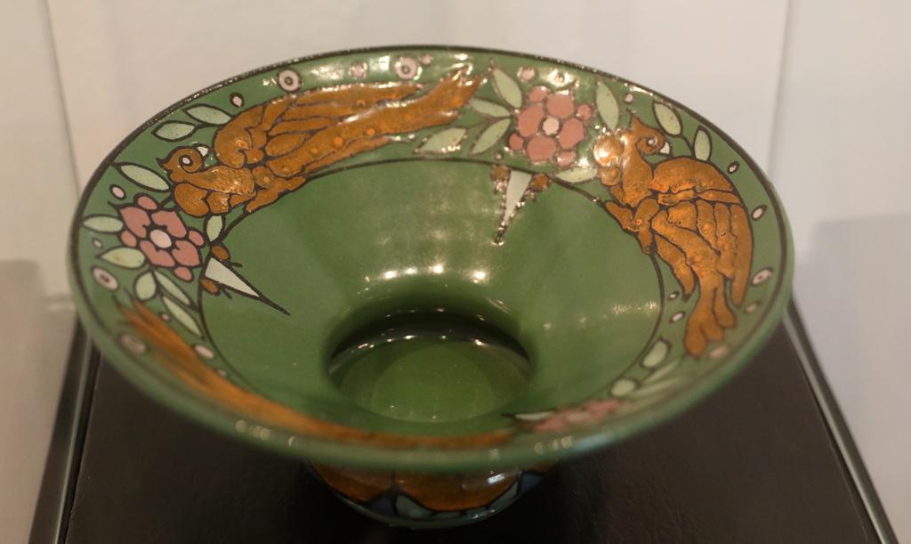 <p>Купа с птици 1929г. керамика с глазури</p>