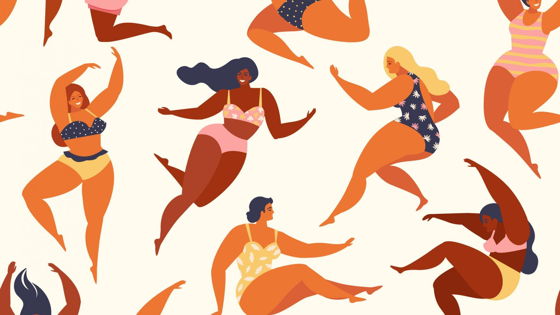 лято закръглени жени извивки