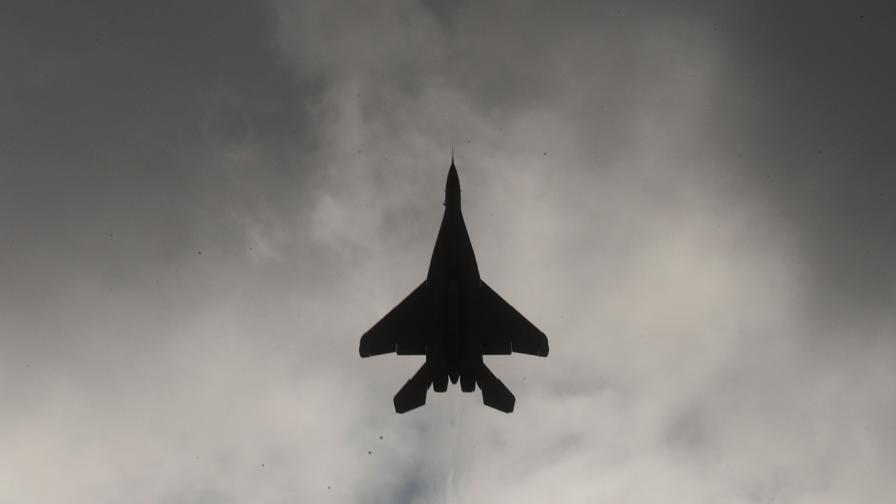 Изтребител на ВВС на САЩ се разби по време на кацане