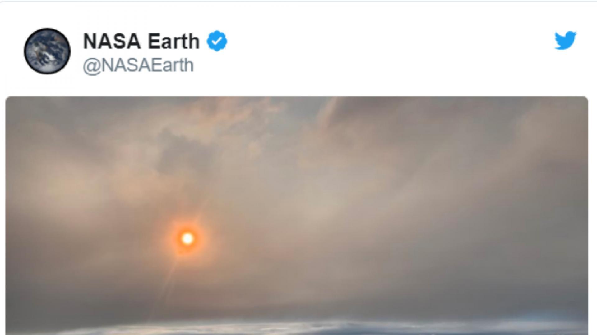 Учени прелетяха през огнен облак и го заснеха
