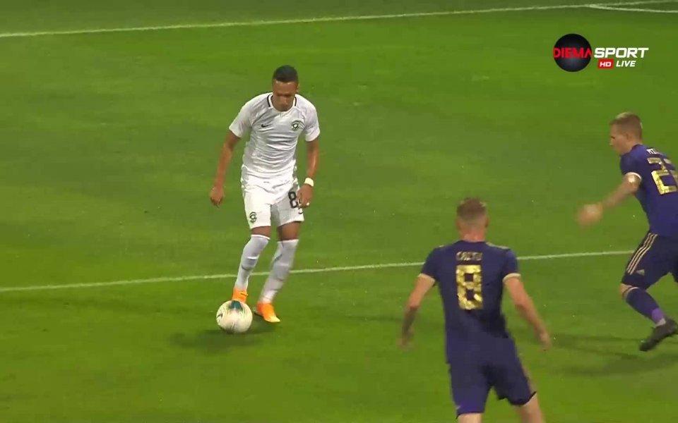 Лудогорец вкара първи гол при визитата си срещу Марибор, след