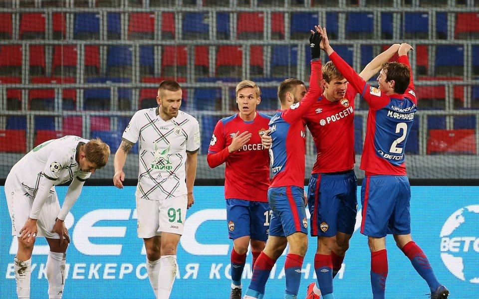 ЦСКА Москва загря за Лудогорец с 2:0