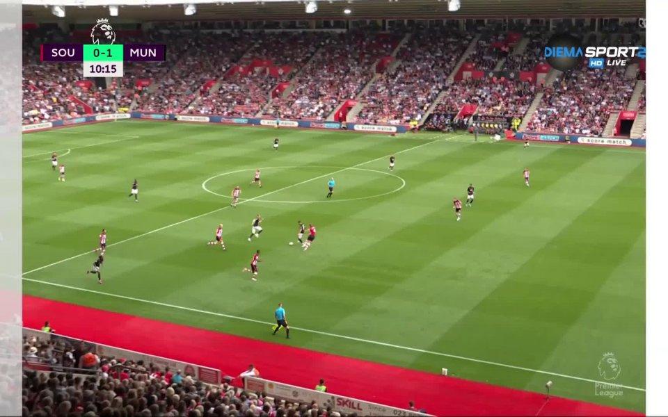 Манчестър Юнайтед поведе в резултата със страхотен гол на Даниел