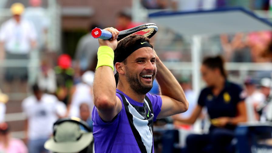 Григор Димитров е на полуфинал, Раонич се отказа