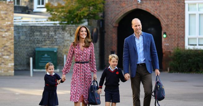 Големият ден е тук! 6-годишният принц Джордж и 4-годишната му