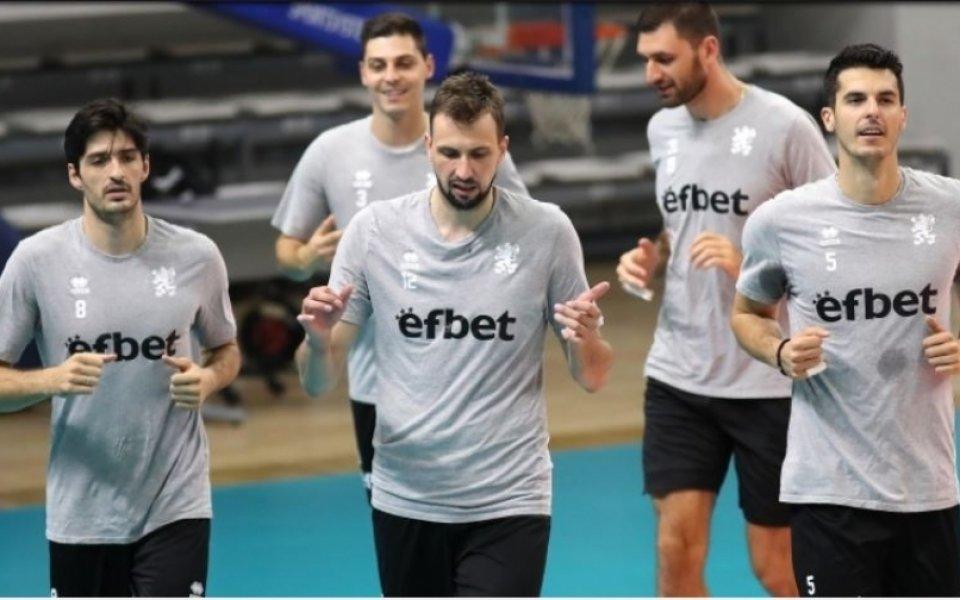 Волейболистите откриват тренировката си преди заминаването