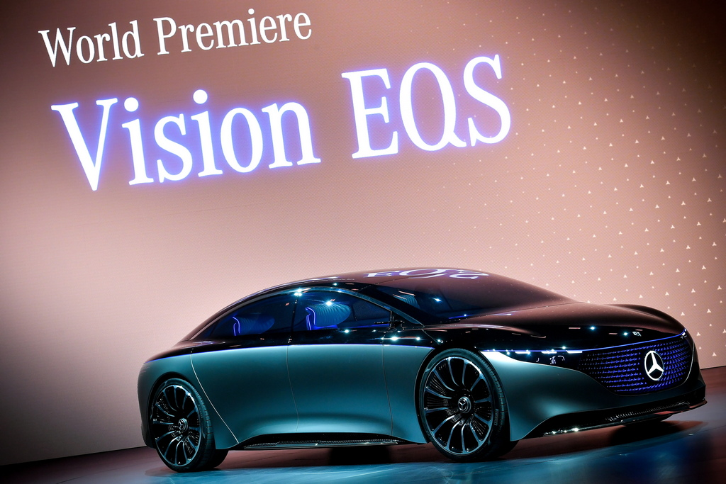 <p>Mercedes-Benz Vision EQS</p>