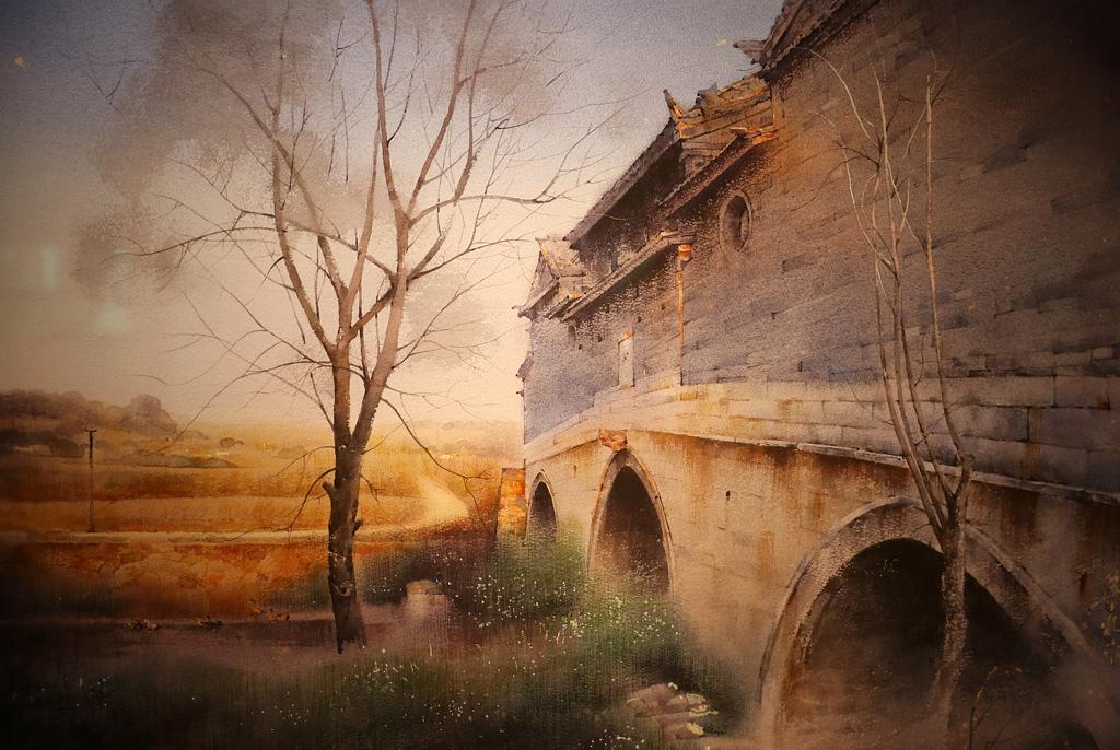 <p>&quot;Старият мост в Юнан&quot;от Хуан Хуаджао, Китай</p>