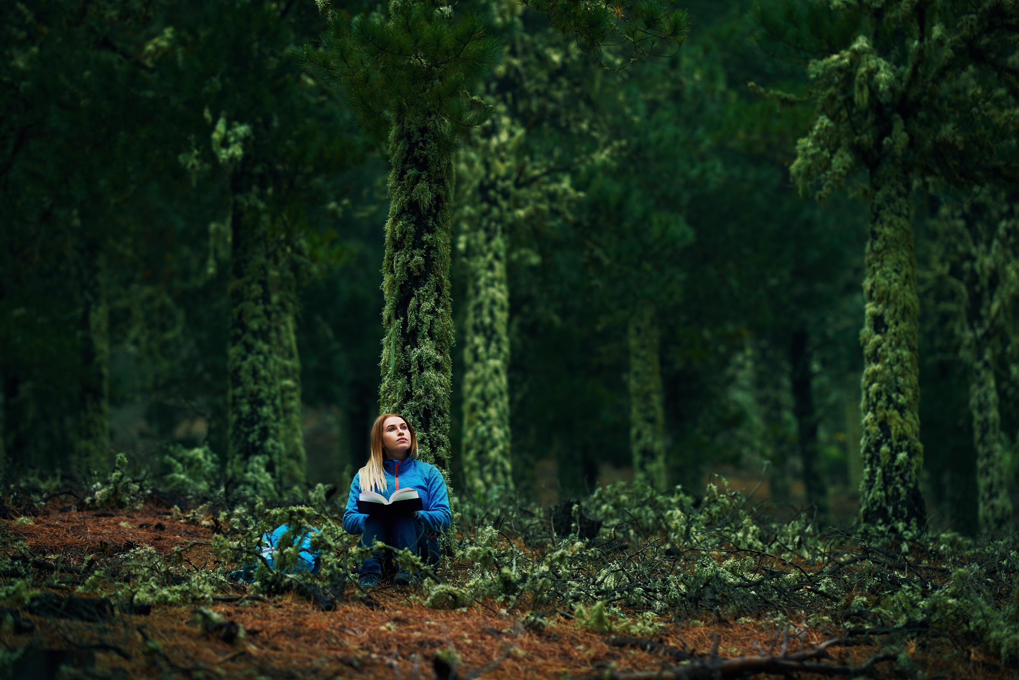 <p><strong>Waldeinsamkeit</strong> (немски)</p>  <p>Чувството, когато си сам сред природата (в гората). Чувство на мир, хармония, тишина и спокойствие.</p>