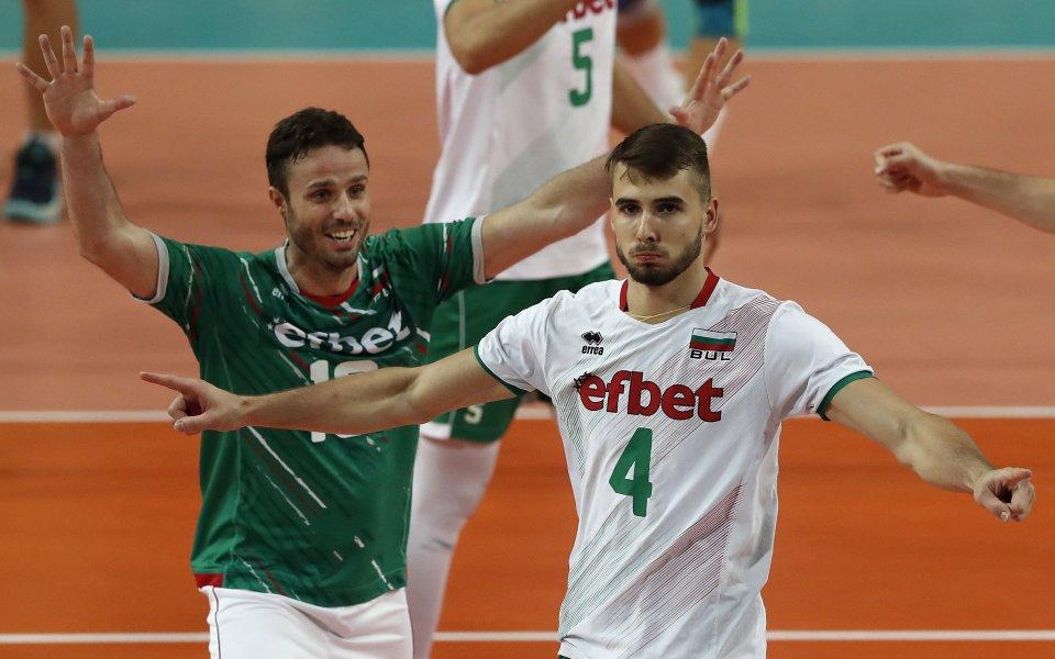 Либерото на националния ни отбор по волейбол Теодор Салпаров се