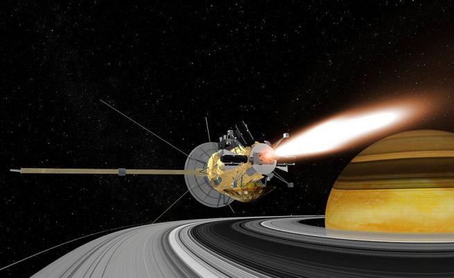"""Трагичният край на """"Касини"""" и разбиването му в Сатурн"""