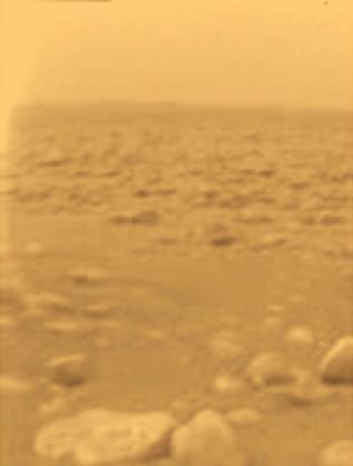 """Кадър от повърхността на Титан, заснет от """"Хюйгенс"""""""