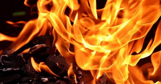 България Големи пожари горят край София и Варна Сухи треви