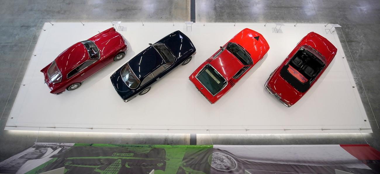 <p>Различни автомобили на изложението Mythos Alfa Romeo в Технологичния музей в Зинсхайм, в провинция Баден-Вюртемберг Германия.</p>