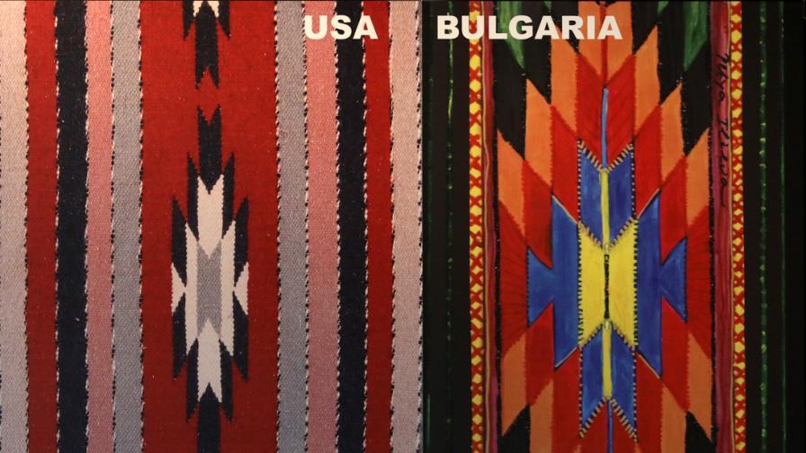 Художничка показва български и чужди фолклорни мотиви