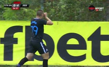 Мартин Д. Петков с дебютен гол за Левски