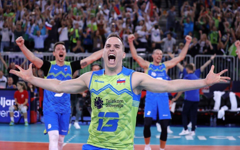 Словения взе още един скалп и гони титлата на Евроволей