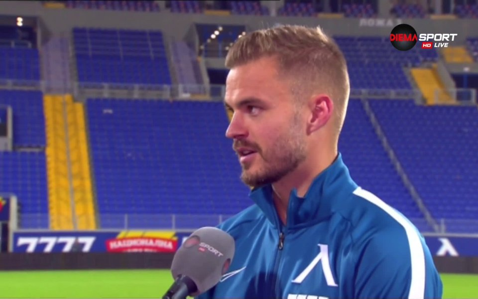Защитникът Холмайр Ейолфсон бе избран за Играч на мача Левски