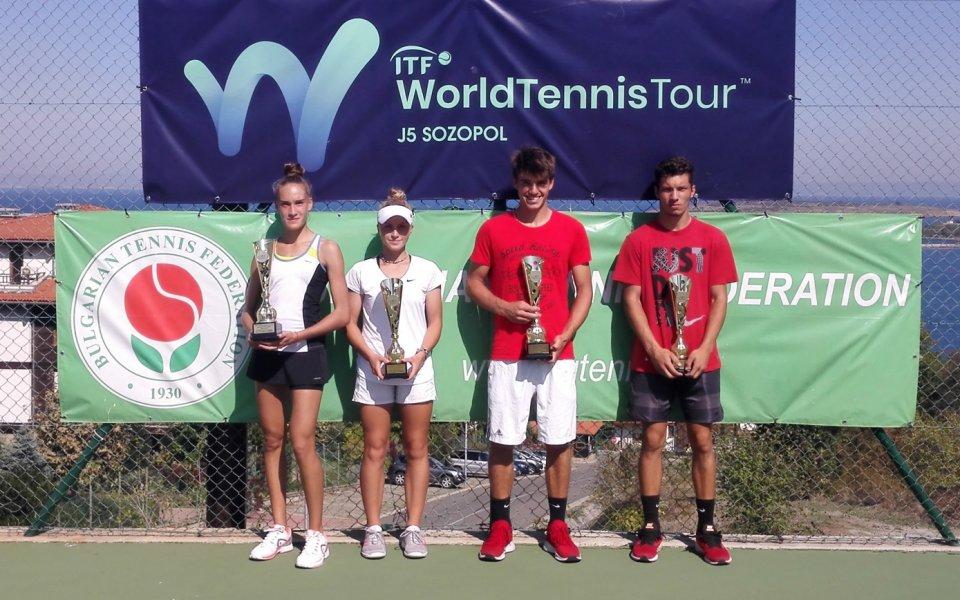 България с двама шампиони на международния турнир по тенис