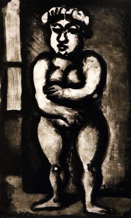 <p>Жорж Руо, Франция. Жена, офорт</p>
