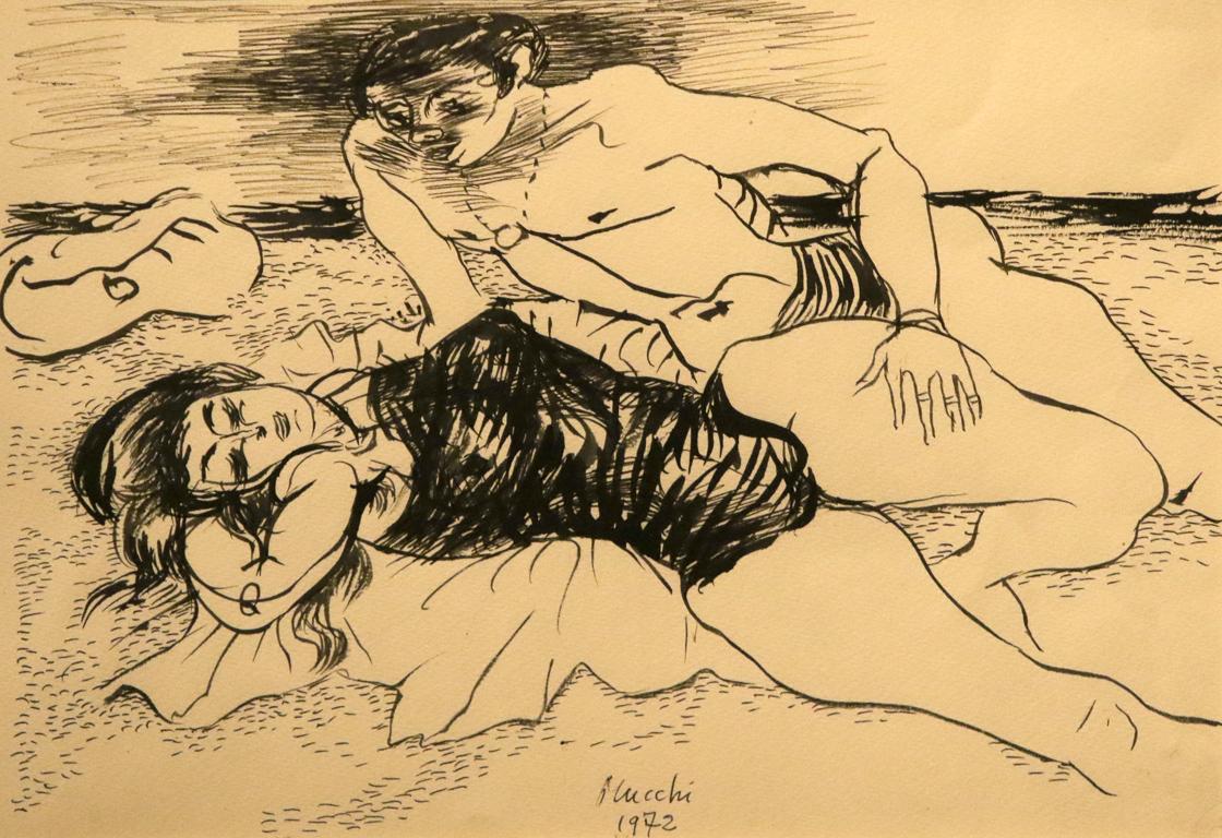 <p>Габриеле Муки, Италия. Влюбени на плажа 1972, туш</p>