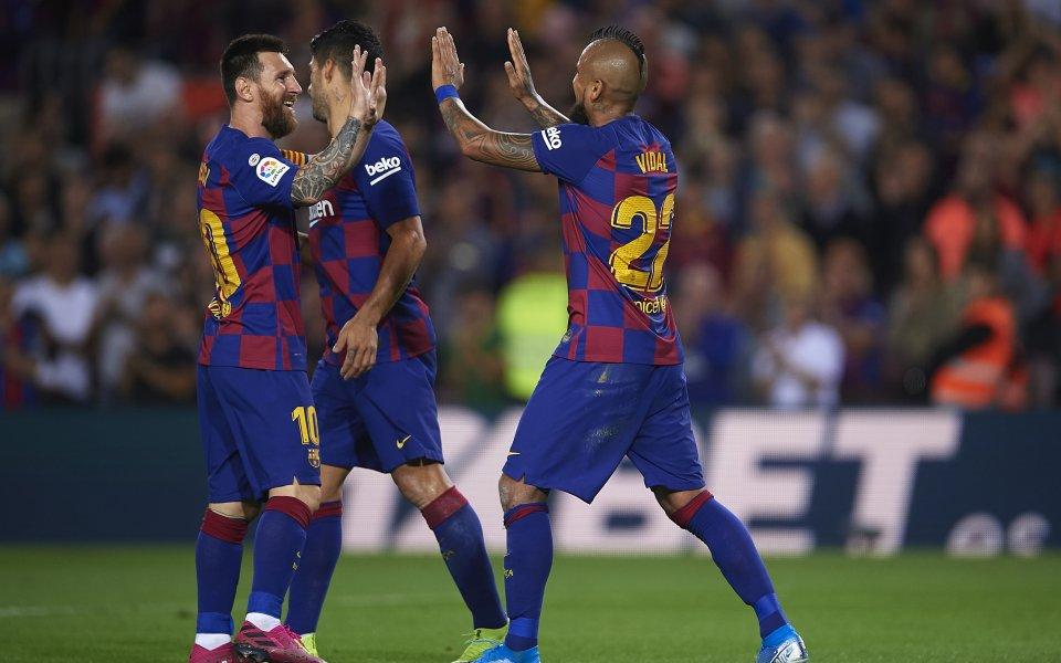 Барселона записа категорична победа с 4:0 над Севиля и доближи