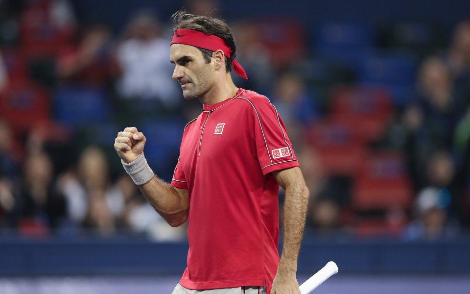 Двукратният шампион Роджър Федерер (Швейцария) се класира за четвъртфиналите на