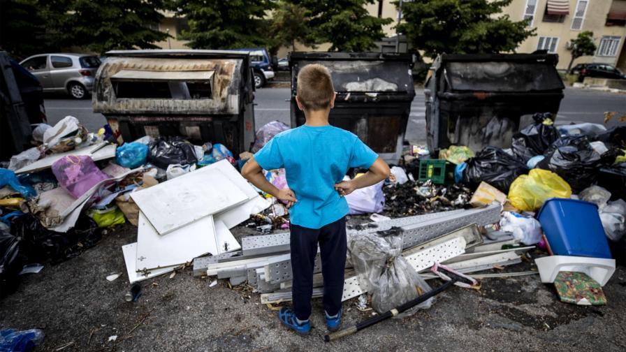Кризата с боклука в Рим