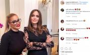 <p><strong>Жени Джаферович</strong> и <strong>Анджелина Джоли</strong> с обща снимка</p>