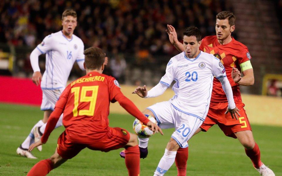 Националният тим на Белгия си гарантира участие на Евро 2020.