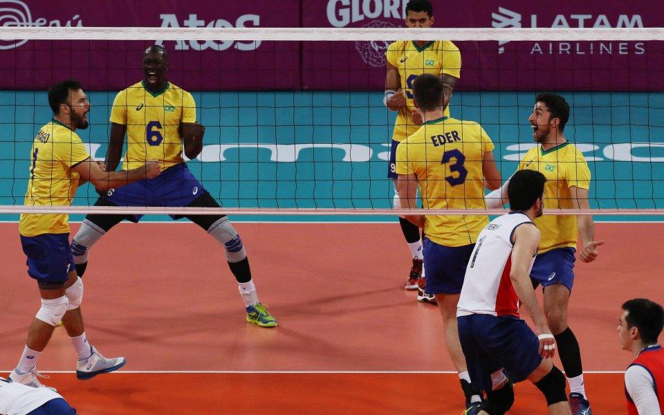 Мъжкият национален отбор по волейбол на Бразилия записа осма поредна