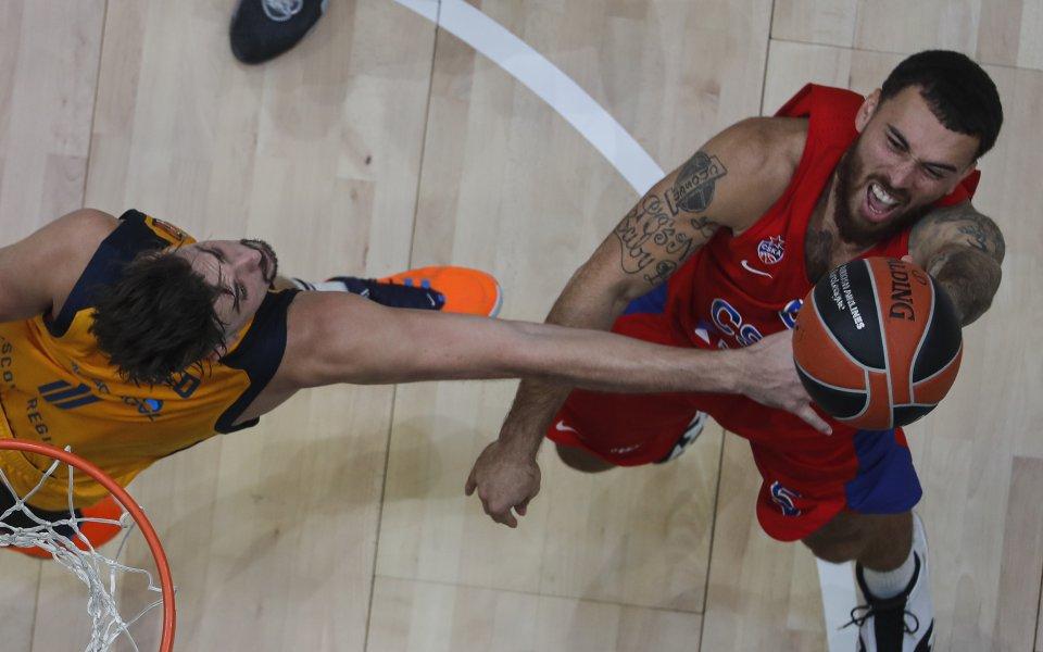 Миналогодишният шампион в баскетболната Евролига и сега лидер в ЦСКА