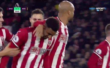 Шефилд Юнайтед наказа Арсенал след корнер