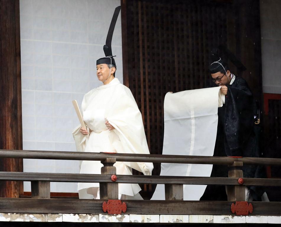 <p>Новият император на Япония, Нарухито, в присъствието на 2 000 гости обяви възкачването си на трона.</p>