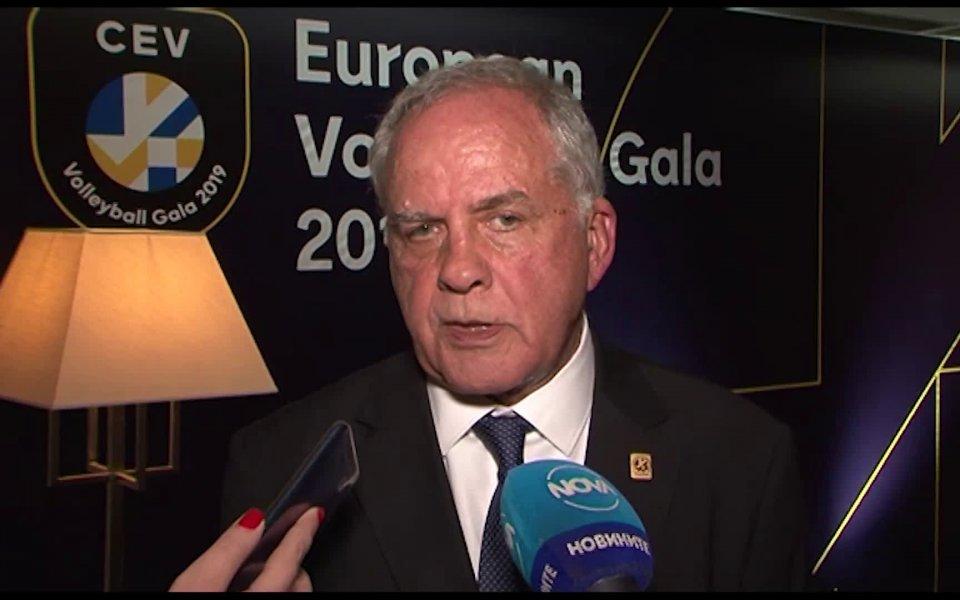 Президентът на Българската федерация по волейбол инж. Данчо Лазаров обяви,