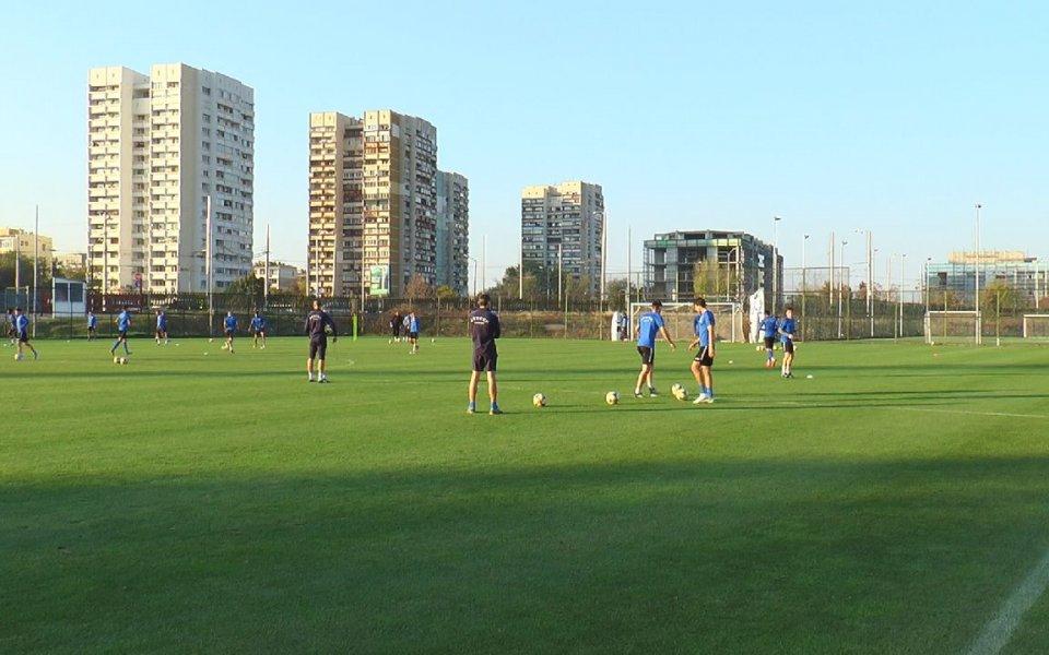 Футболистите на Левски направиха поредното си занимание преди срещата с