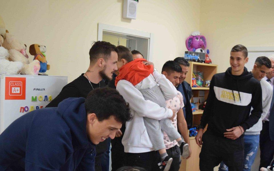 Представителният отбор на Локомотив и кандидатът за кмет на Пловдив
