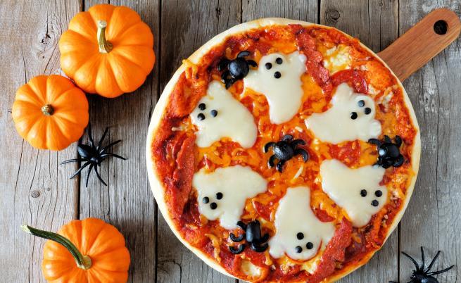 Пица по хелоуински 👻