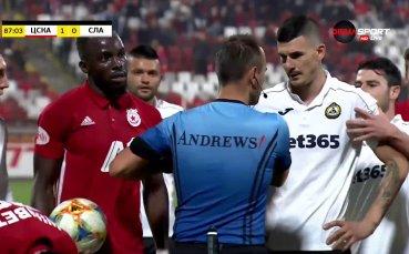 Нервен Шоколаров не издържа и отнесе червен картон