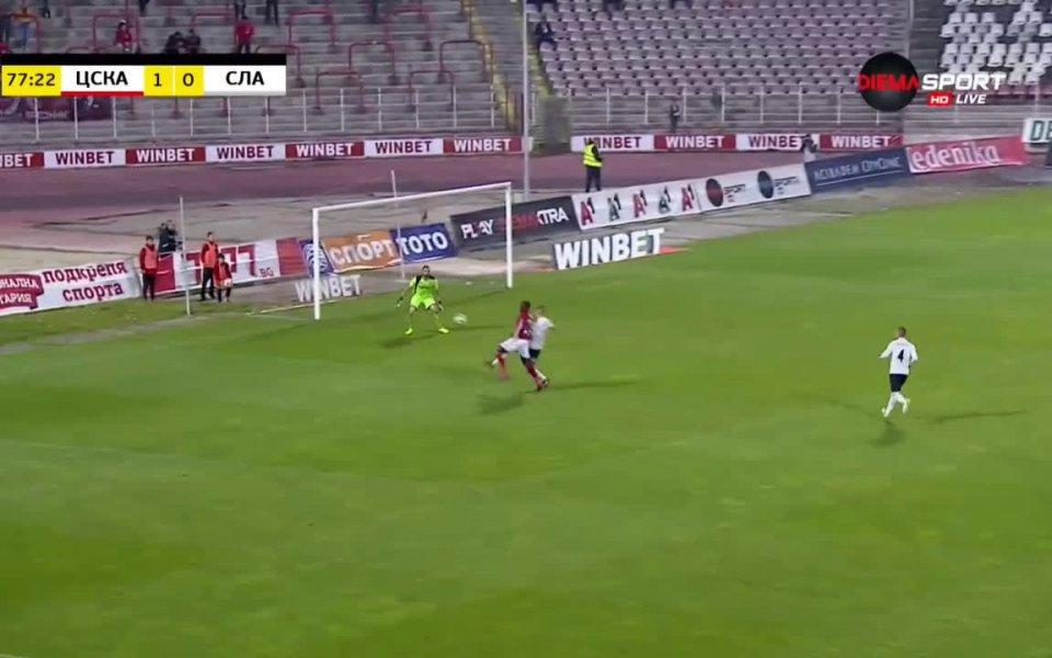 Вижте най-интересното от успеха на ЦСКА над Славия с 1:0