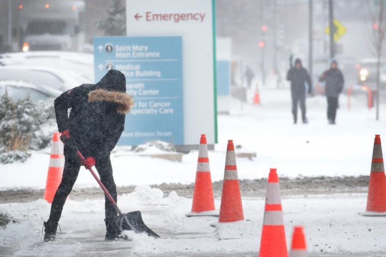 САЩ сняг студ
