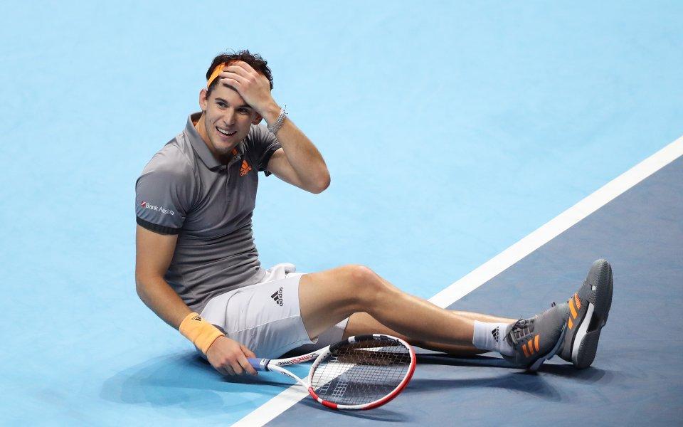 Тийм надделя над Джокович и си гарантира място на 1/2-финалите в Лондон