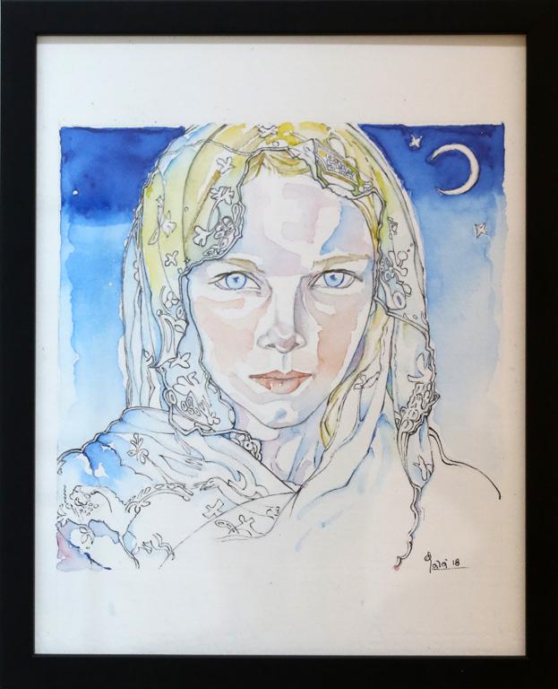 <p>Girl with veil</p>
