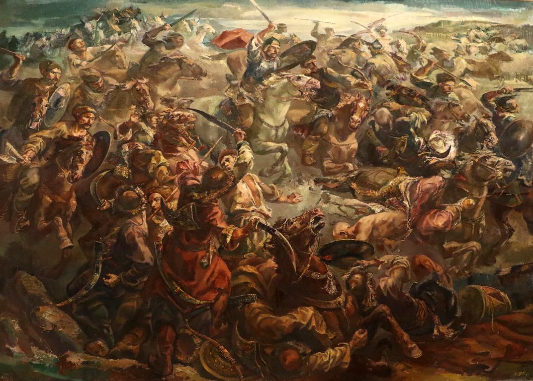 <p>Ивайло разбива татарите</p>