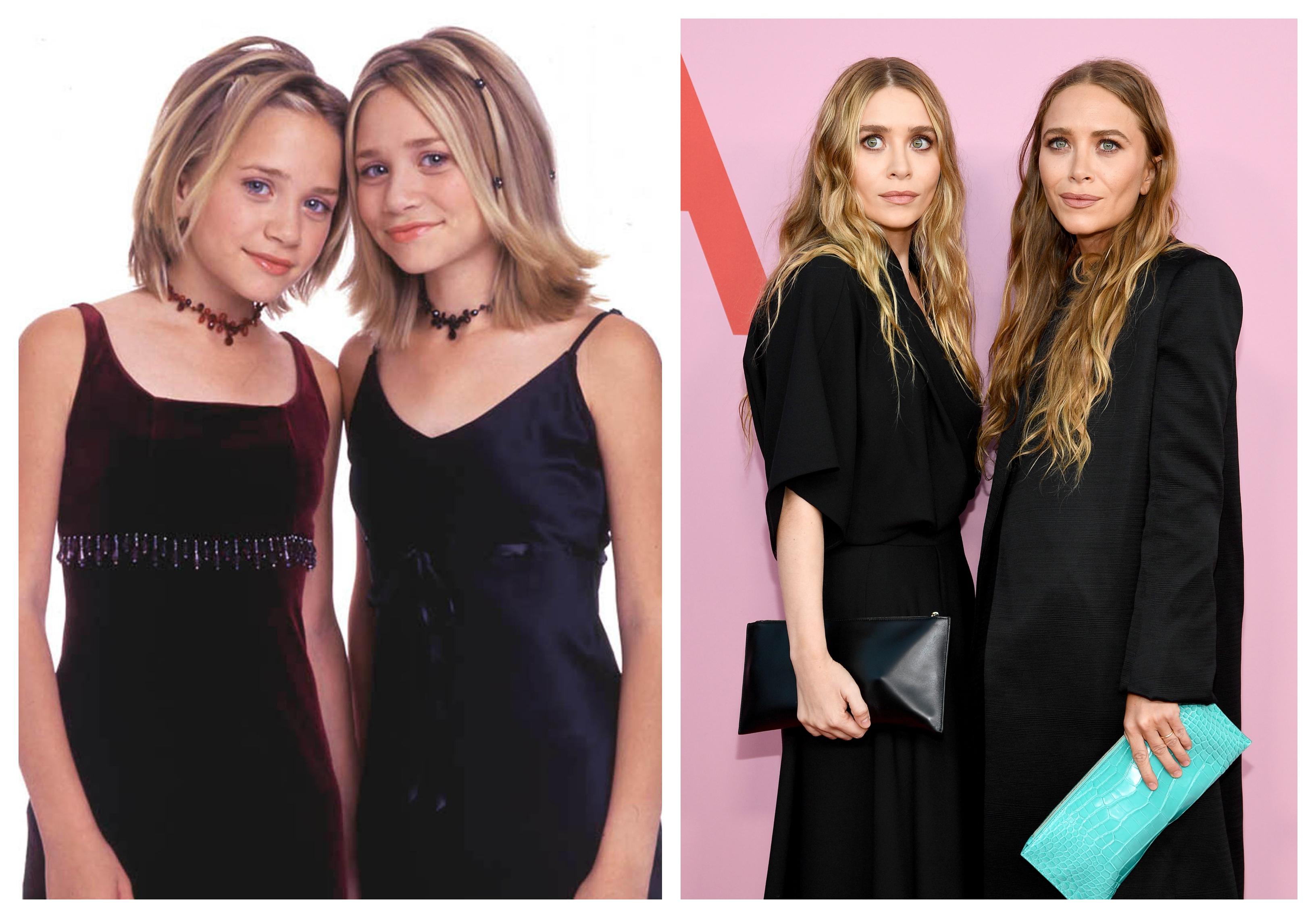 <p><strong>Мери-Кейт и Ашли Оусън&nbsp;</strong> - Двете добиват световна слава с ролята на Мишел в сериала &bdquo;Пълна къща&ldquo;. Следват няколко филма, в които двете близначки си партнират. Ашли спира да се снима в киното след 2004 г., а сестра ѝ има още няколко проекта. Днес двете са известни повече със собствената си модна линия.&nbsp;</p>