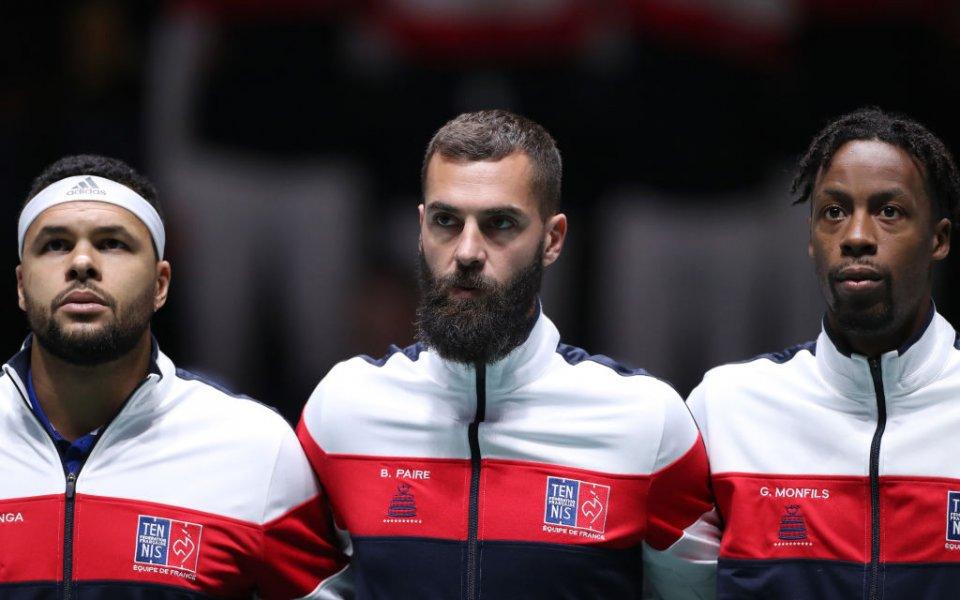 Снимка: Франция започна с трудна победа за Купа Дейвис