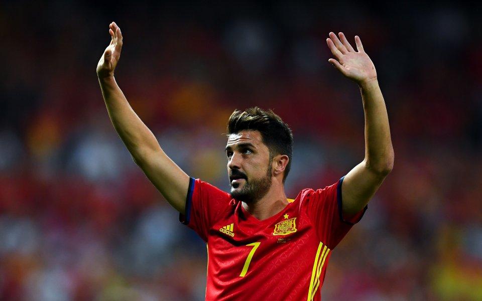 Бившият нападател на Испания и Барселона Давид Вия е на