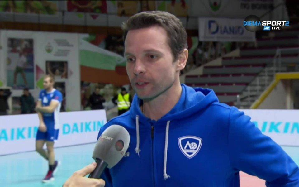 Старши треньорът на Левски Андрей Жеков остана много доволен от