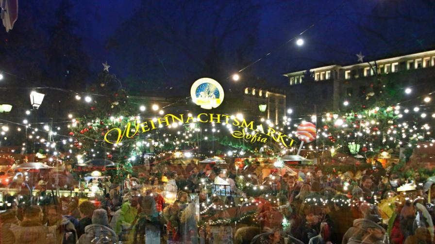 Немският коледен базар в София - вижте атмосферата